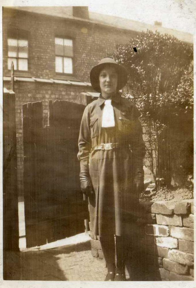 Lilian Laithwaite in girl guide uniform, Wigan.