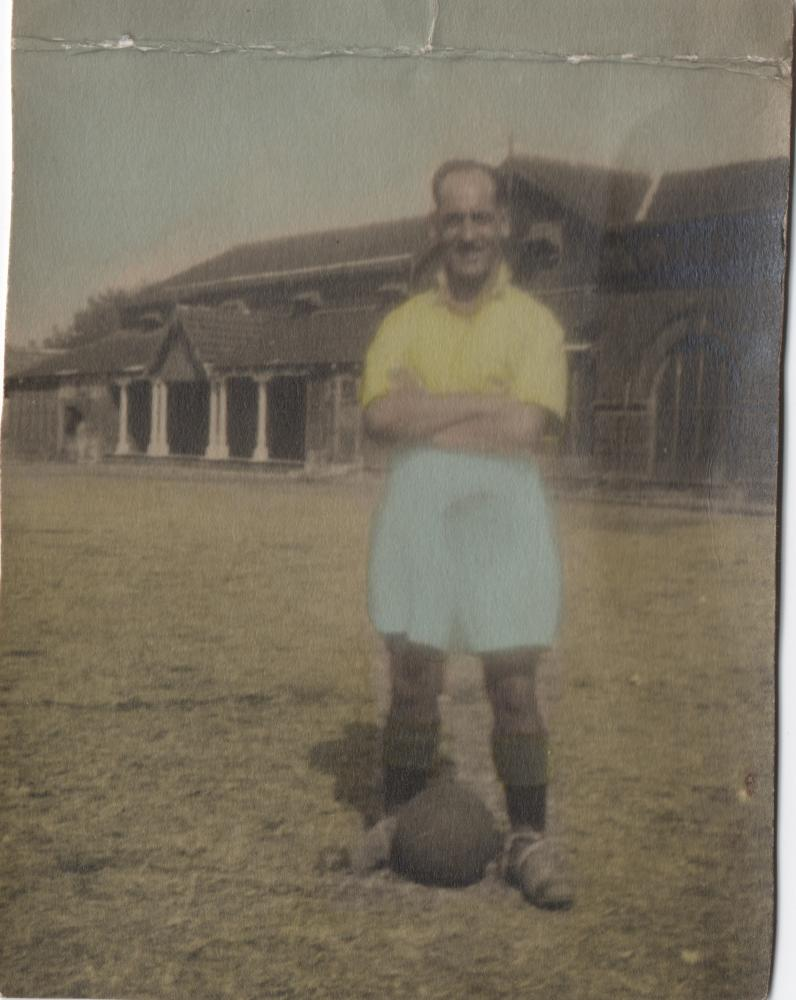 George Myers football in Burma