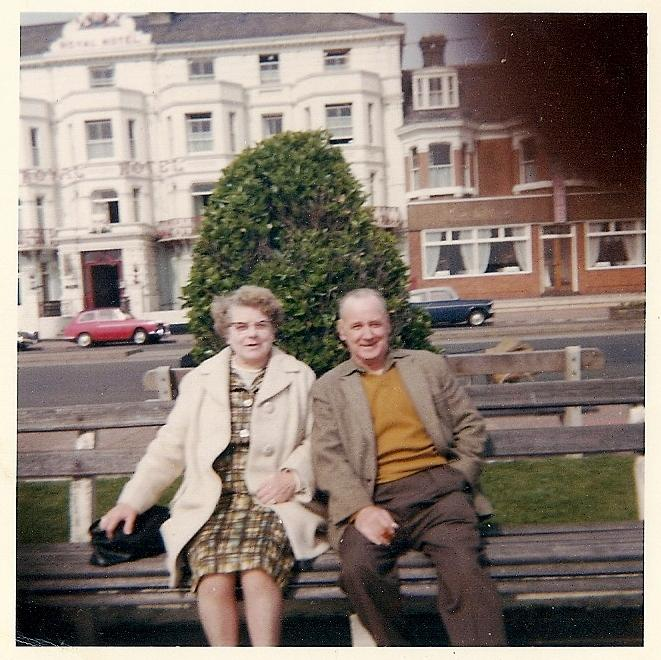 Grandma and Granddad Critchley (Scholes) on Holiday circa 1970