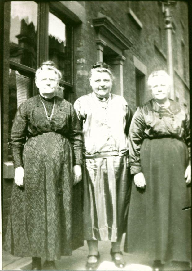 Three Stringfellow sisters - Jane, Margaret, and Ellen.