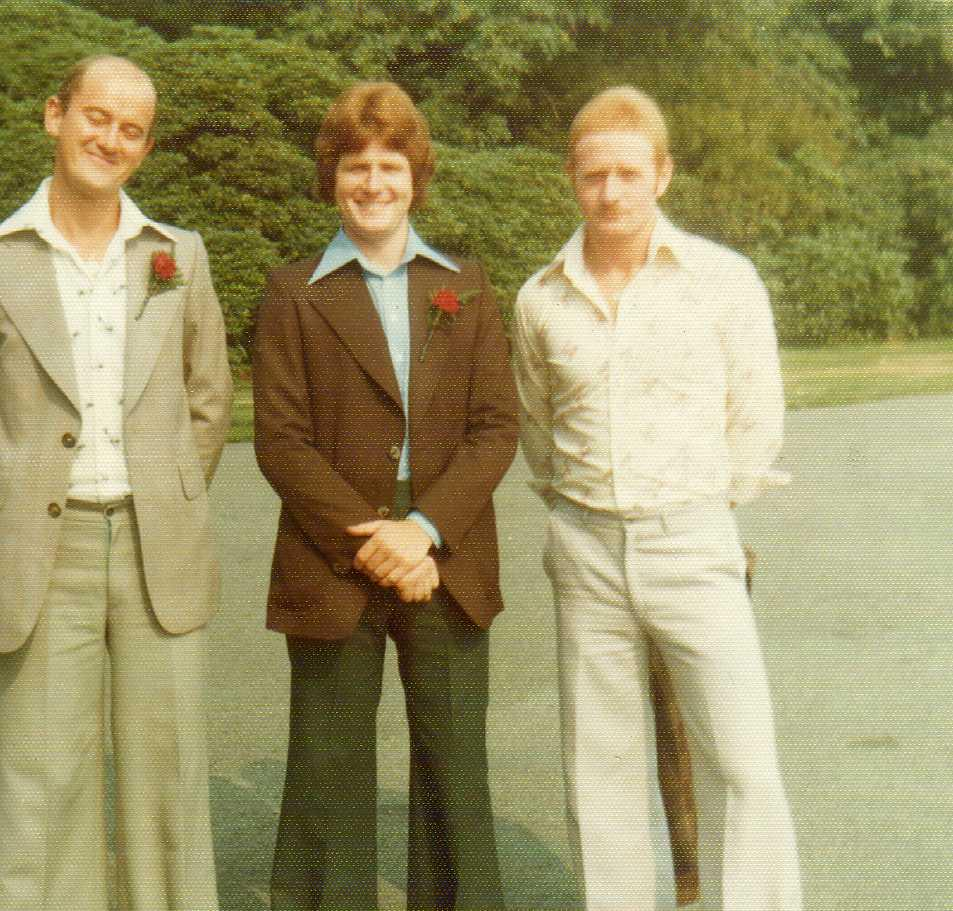 Jim & Mike Webster at a wedding in the 70's