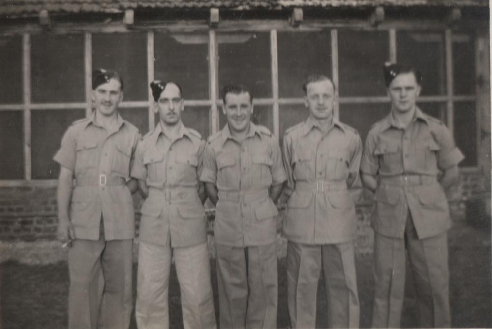 George Myers with his pals in The Manchester Regiment