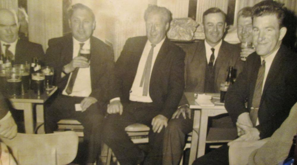 Dad with mates probably in St. Andrew's Club