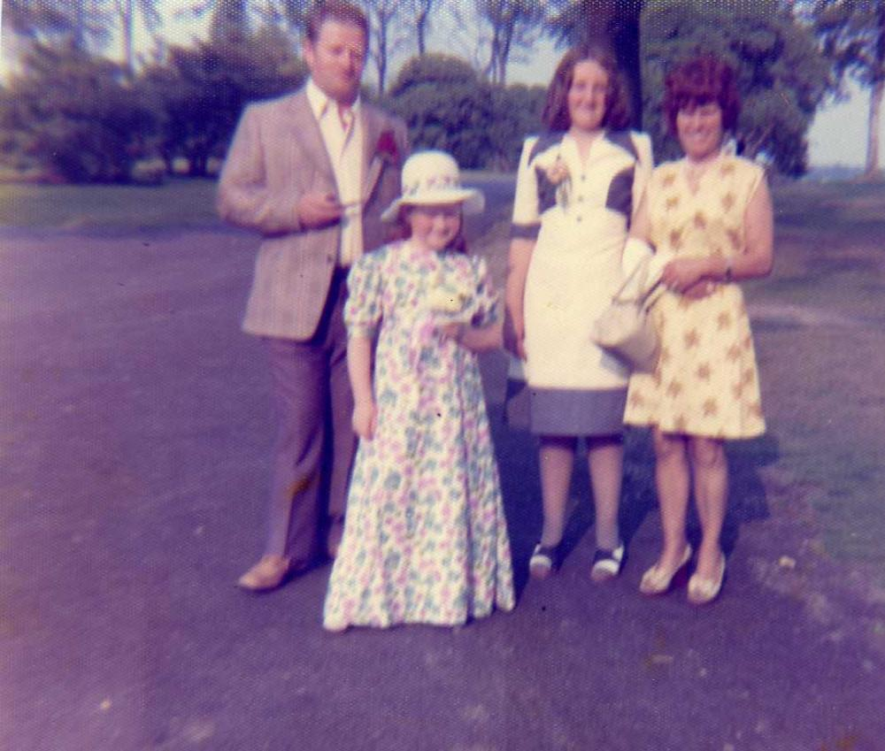 Horace Webster, me as a bridesmaid, Sandra Darbyshire & Mary Webster