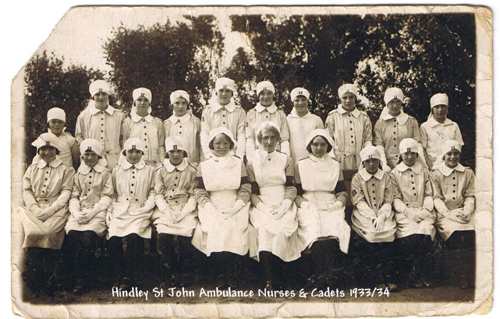 Hindley St John Ambulance Nurses & Cadets 1933/34