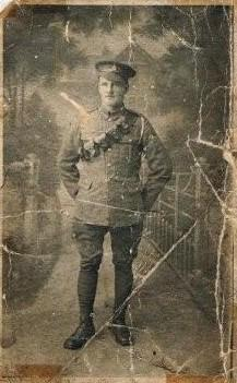 James Peter Kellie in Uniform -WW1