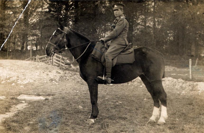 Fred Green and his horse, he was in the light infantry.