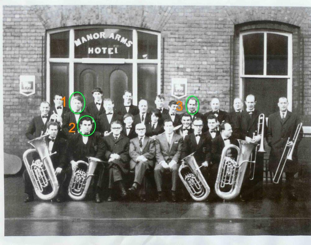 this is a photo of Golborne band round about the  60's/70.