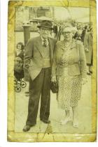 Robert and Elizabeth Harlow taken in Blackpool 1950s