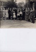 Ainscough / Caunce group wedding photo 1952