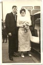 Neville and Evelyn Wedding Day October 10th 1964