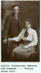 Carrie (Catherine) Webster and husband, Winrow after 1919.