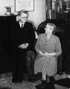 Vincent and Mary Brindle at home