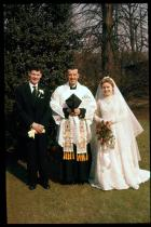 Wedding to John Haslam 1958