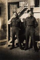 Arthur Tice with Jock McArther in Morcambe, July 1943.