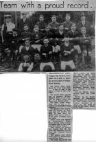 Football Team 1920 Holland moor {paper cutting}