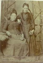 Great grandmother Sarah Davies with her sister.