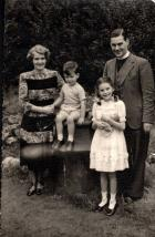 John Bebb with wife Joyce and children Catherine & John
