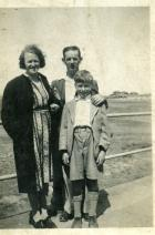 Colin Pearce with his parents 1930's