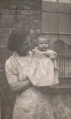 Edith Sharratt and child