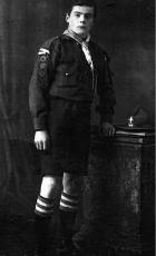 George Melbourne Webster as a 15 -16 year old scout