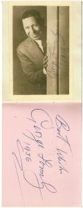 George Formby & Autograph 1956