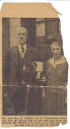 grandad and grandma with garden prize