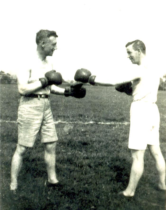 William Adams and his cousin Bob Collins, late 1920s.