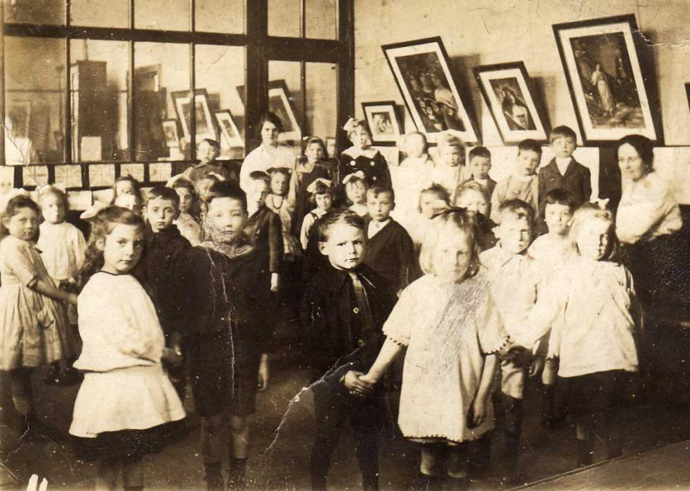 Ernest Rigby's class at Warrington Lane Council School