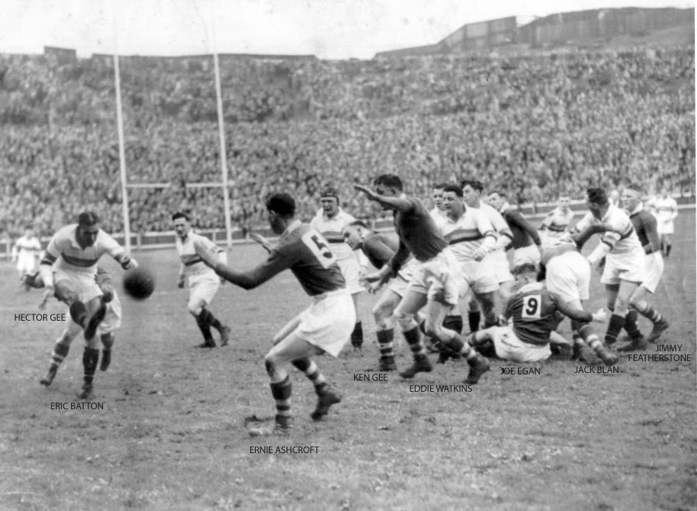 Challenge Cup Final 1944 Bradford v Wigan 2 april 1944 with names