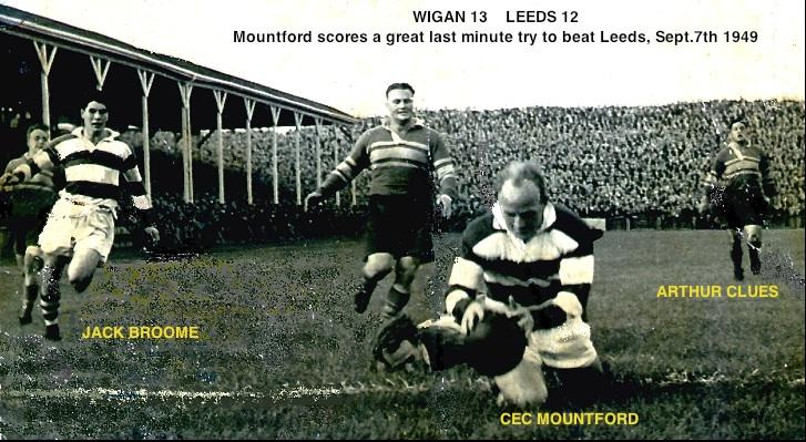 Wigan v Leeds, Central Park Sept.7th 1949.