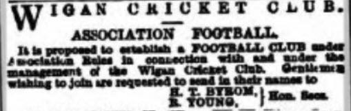 Birth of Football in Wigan