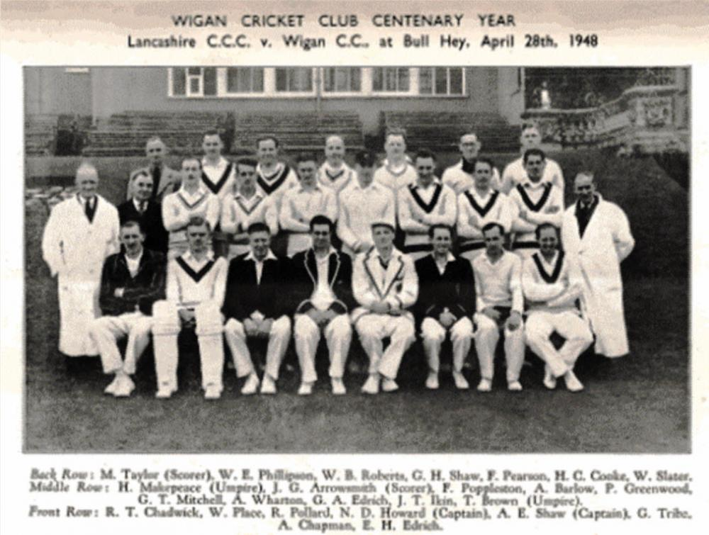 Wigan Cricket Club  - Centenary Game 1948