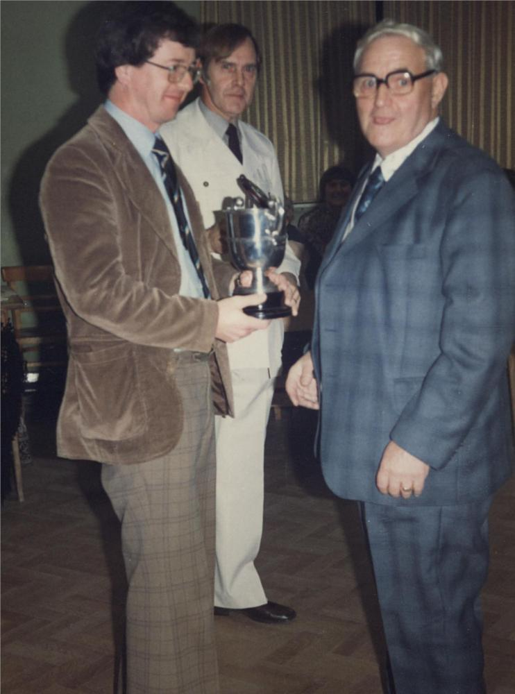 presentation  of blundell bowling cup 1980