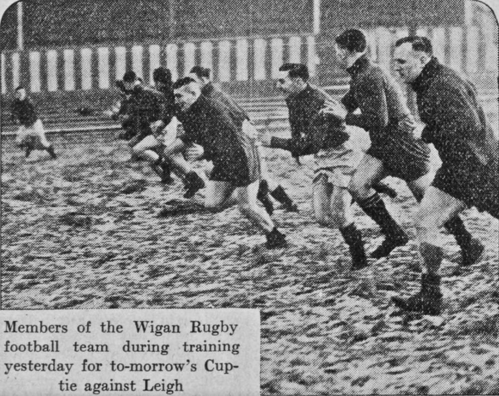 Wigan Training for Cup-Tie, February 1939