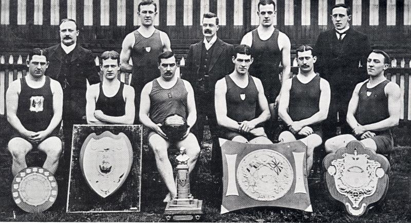 Wigan Swimming and Water Polo team 1909