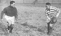 Hector Gee (left) training with George Bennett in 1933