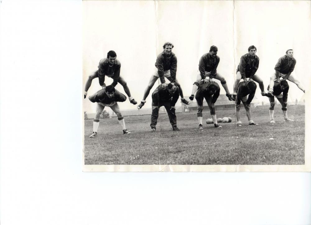 Pre-season training 1967/68