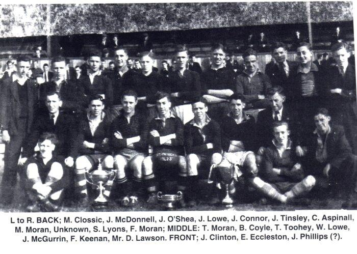 St. Patrick's Rugby Team, c1940s.