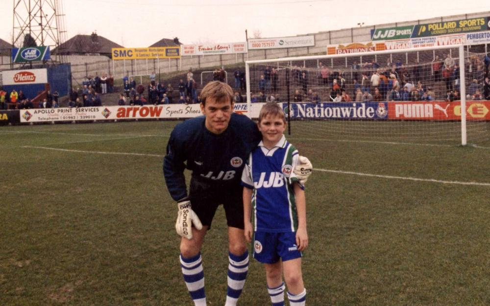 Roy Carroll and the lad!
