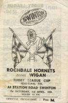 Rugby League semi final programme