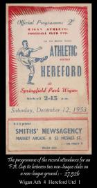 Hereford F.A.Cup programme