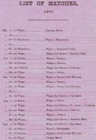 Wigan Cricket Club - 1875 - Fixture List