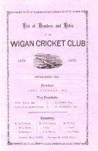 Wigan Cricket Club - 1875