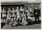 Pemberton boy's junior rugby team from 1962, i'm sat middle row holding the ball. teacher mr Brison ?