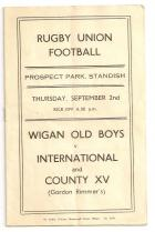 Wigan old boys programme