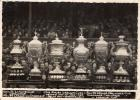 Wakefield and Wigan trophies in January 1947