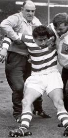 Dave Bolton knocked out cold in the 1963 Wembley Final.