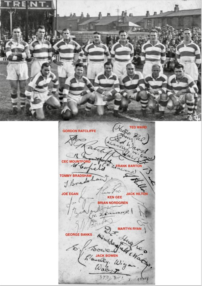 Wigan team that played New Zealand in 1947