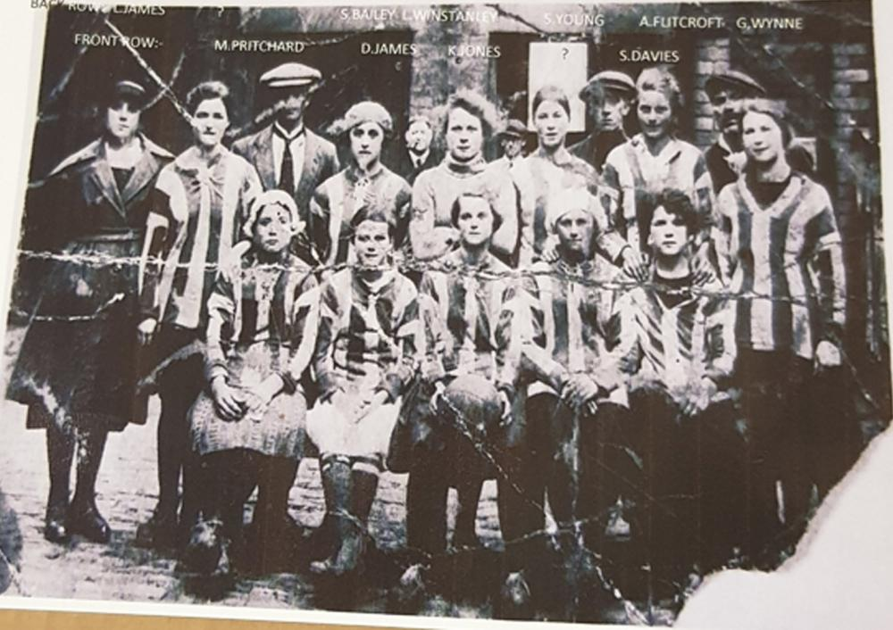 Bamfurlong colliery ladies football team.